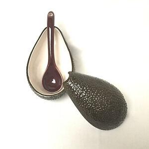 Avocado Guacamole Bowl with Serving Spoon Lid