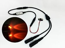 Micro Effects Light 2X orange LED & control flash blink strobe 9V prop MELKITO4B