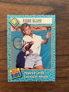 1989 Sports Illustrated For Kids Magazine Andre Agassi Rookie RC #47 NRMT-MT