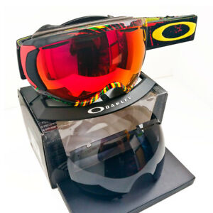 Oakley Canopy Snow Goggles RASTA PRIZM Torch + Dark Grey Lenses Ski Snowboard