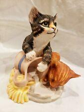 Franklin Mint 1986 Mischief Cat Kitten Porcelain Figurine By Gail Ferretti
