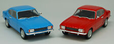 Ford Capri (1969) Modellauto 1:24 Spritzguss 17,5 cm lang blau/rot WELLY