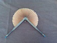 Antique Paper Hand Fan, Wood Handles