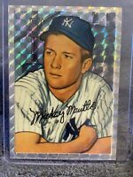 1996 Topps Mickey Mantle, Atomic Refractor Reprint Of 1952 Bowman Rookie Card!!