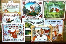 Lot of 8 Children's Books by JAN BRETT~ Trolls, Gingerbread Friends + more