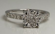 Ladies engagement band ring Hatton garden made ENGAGEMENT RING .75 ct  DIA