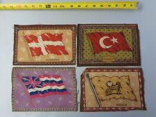 Lot of 4 1900's Vint Tobacco Cigarette Felt- Denmark, Turkey, China, Australia