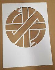 Crass cardboard Stencil Symbol Sign Punk Anarchy