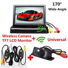 "Wireless Car Reverse Rear View Backup Night Vision Camera + 4.3"" LCD Monitor Kit"