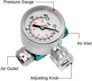 "Air Compressor Regulator 1/4"" NPT Spray Gun Pressure Regulating with Gauge"