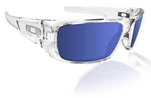 Oakley crankshaft polished clear frame Ice iridium lens Authentic New OO9239-04