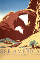See America US Travel Retro Vintage WPA Art Project Poster Poster - 12x18