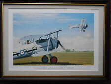 Keith Woodcock Aircraft print 'Gloster Gladiator 1s of Nos 87 and 73 Squadron' F