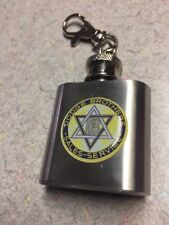 DODGE BROTHERS SALES 1 OZ. FLASK KEY CHAIN FREE SHIPPING UNIQUE & VERY CLASSY