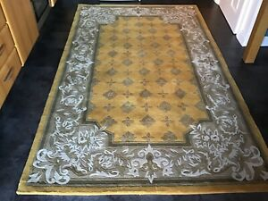CHINESE SAVONNERIE GOLD, 8' x 5', BRAND NEW,  AUTHENTIC RUG, THICK...FREE DEL.