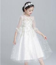 Cuentas Boda Dama de Honor Graduación Niños Fiesta Princesa Vestido Encaje