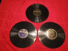 Lot 3 Comedy 78 RPM Records Cal Stewart Moran and Mack Uncle Josh Black Crows VG
