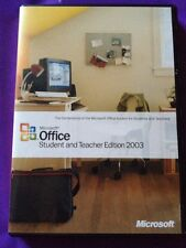Microsoft Office 2003 Studente & Insegnante con Word Excel AUTENTICO CON PRODUCT KEY