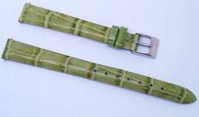 12mm-L (12mm LONG) Green Alligator Grain Leather Dress/Sport Women's Watch Band