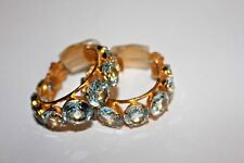 NEW! Bounkit Hoop Earrings Blue Quartz Orig. $385