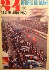 1969 24 Heures Du mans Authorized Reprint from France- Rare Car Poster WOW!!