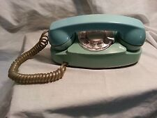 Vintage Bell System Blue Aqua Turquoise Princess Rotary Dial Telephone