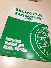 Supplément manuel atelier Honda NTV650 REVERE NTV 650 shop manual ed.94