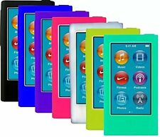 7pcs Soft Silicone Gel Skins Cases Covers For Ipod Nano 7th Gen Screen Protector