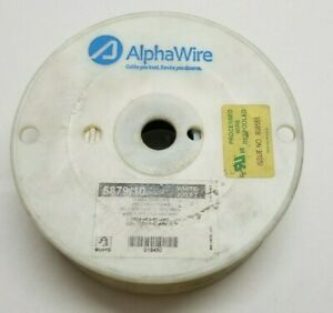 Alpha Wire 5879/10 Hook-up Wire 10AWG (37/26) SPC .012 (.30MM) 100 FT WHITE