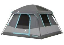 6 Person Dark Rest Cabin Tent 10' x 9'  Camping Keeps Cool Outdoors Blocks Sun