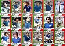 Italy 1982 World Cup winners football trading cards