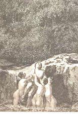 18th CENTURY SOLOMAN GESSNER ENGRAVING/ETCHING-1771,mythological landscape