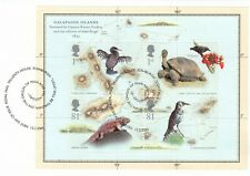 (55070) GB Used Charles Darwin FULL Booklet Pane 2009 ON PIECE
