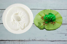 Silicone Mould, 3d Frog on a Lily Pad  Cupcake topper, Ellam Sugarcraft M106