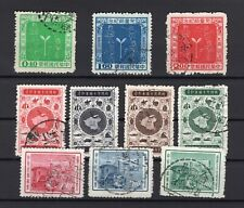 Taiwan 1956 lot of 3x complete sets used good quality