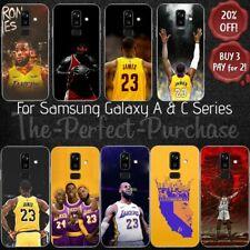 Samsung Galaxy A & C baloncesto de la NBA LeBron James suave piel caso cubierta de piel posterior