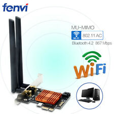Wireless-AC Desktop Wifi Adapter Dual Band 867Mbps BT4.2 Intel 8265NGW Card