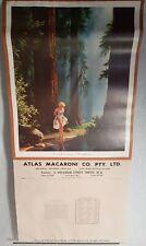 PERTH WESTERN AUSTRALIA ADVERTISING CALENDAR Atlas Macaroni Factory 1963