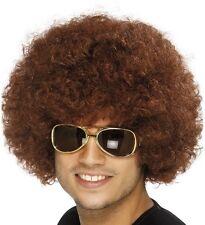 AÑOS 70 1970s AÑOS 80 1980s Hombre Mujer Funky Peluca Afro para Disfraz Marrón
