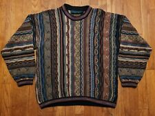 TUNDRA Canada Men's Multicolor Heavy Textured  Coogi Style Sweater Medium
