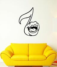 Wall Decal Funny Music Note Mouth Singing Voice Melody Vinyl Stickers (ed189)