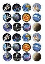 24 Solar System planets space ND2 icing cake toppers decorations
