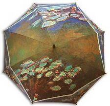 "Monet ""Water lilies""painting long size automatic umbrella"
