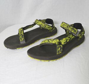 Teva 6294 Hurricane 2 Green Digital Camo Sport Sandals Water Hiking Youth Size 7