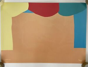 Gary Hume - Curtains Poster - Signed