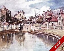 HENDON MIDDLESEX ENGLAND ENGLISH LANDSCAPE ART PAINTING REAL CANVAS PRINT
