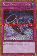 PGL3-EN035 CORNO NERO DEL PARADISO - BLADK HORN OF HEAVEN - RARA GOLD - INGLESE