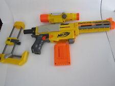 Nerf n-Strike Recon CS-6 Dart Gun Shoulder Stock Sight & Extender Barrel 1 Clip