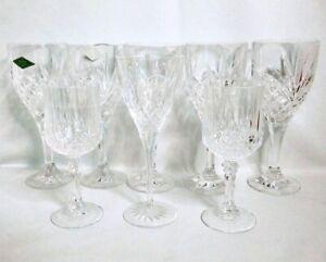 Shannon Crystal Ireland 24% Lead Crystal Stemmed Wine Glass Lot Set