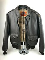 Cooper Type A-2 44R Leather Flight Bomber Jacket - 50th Anniversary Victory 1995